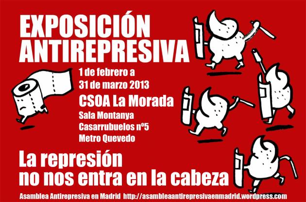 Cartel Expo Antirepresiva La Morada color