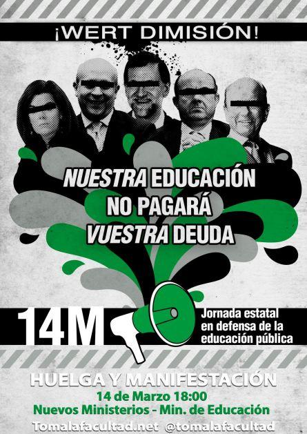 14m en defensa de la educación pública